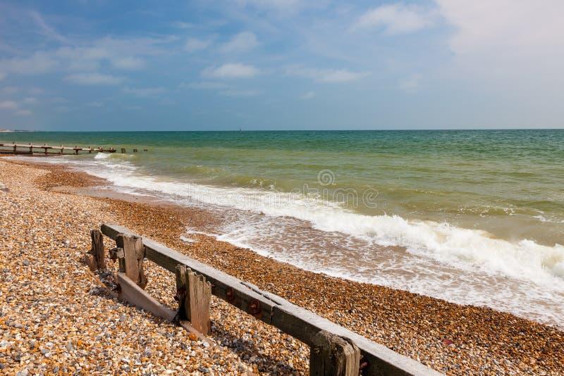 Пляж западное Сассекс Англия Climping стоковые фотографии rf