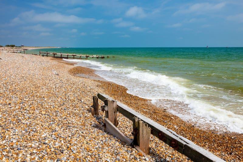 Пляж западное Сассекс Англия Climping стоковое изображение rf