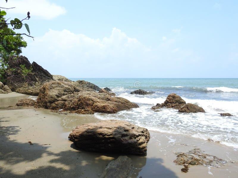 Пляж залива вихря стоковые фотографии rf