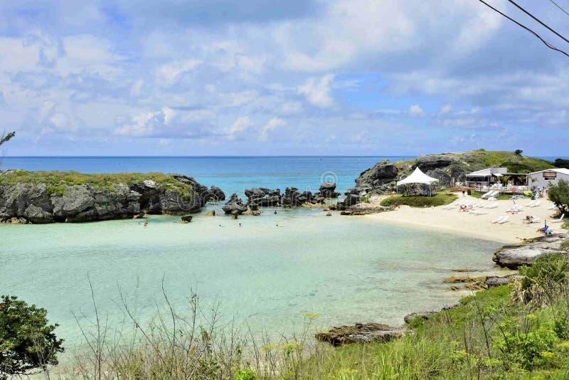 Пляж залива табака, Бермудские Острова стоковые изображения