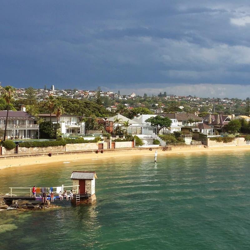 Пляж залива Уотсона стоковое фото rf