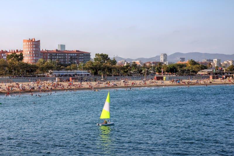 пляж Испания barcelona стоковое фото rf