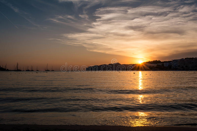 Пляж Испания ponza Санты стоковая фотография rf