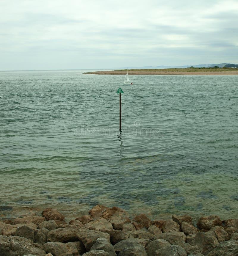 Пляж и море Exmouth стоковые изображения rf