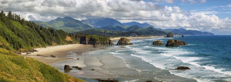 Пляж карамболя в Орегоне стоковое изображение rf