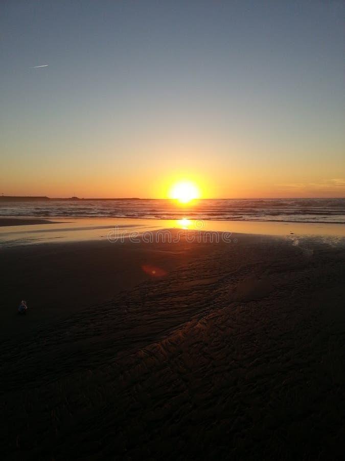 Пляж Касабланки стоковое изображение rf
