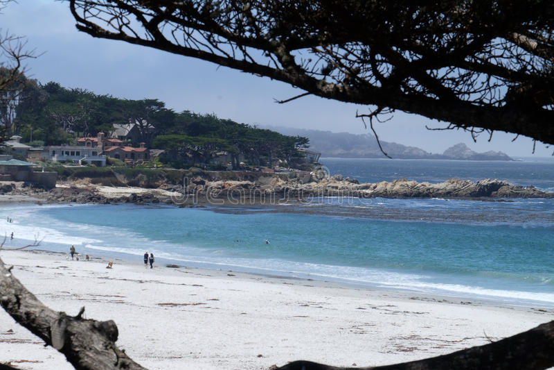 Пляж Калифорния Carmel, Соединенные Штаты стоковые фотографии rf