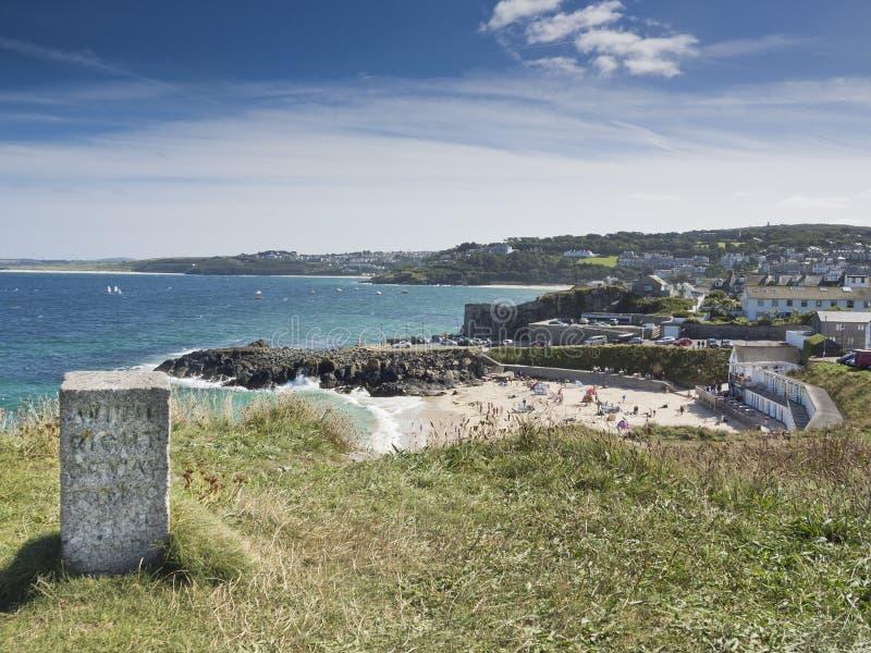 Пляж Корнуолл Англия St Ives Porthmeor стоковая фотография
