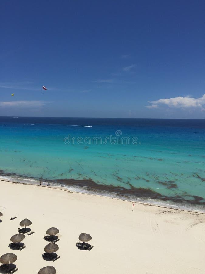 пляж красивейший cancun стоковое изображение