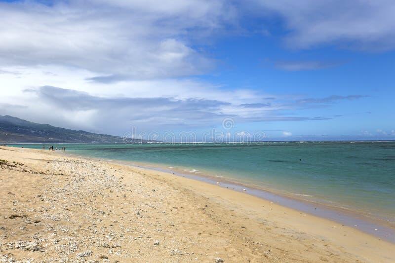 Пляж Ла соляной, Ла Остров Реюньон, Франция стоковые фото