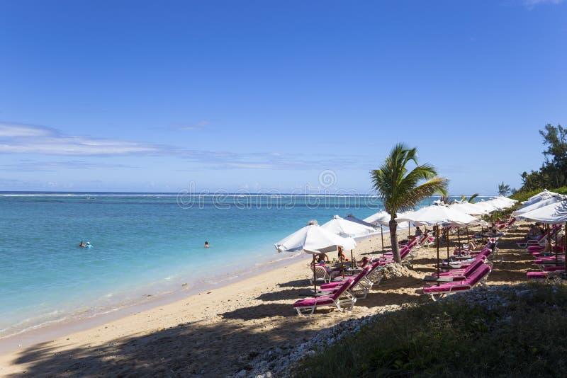 Пляж Ла соляной, Ла Остров Реюньон, Франция стоковое изображение