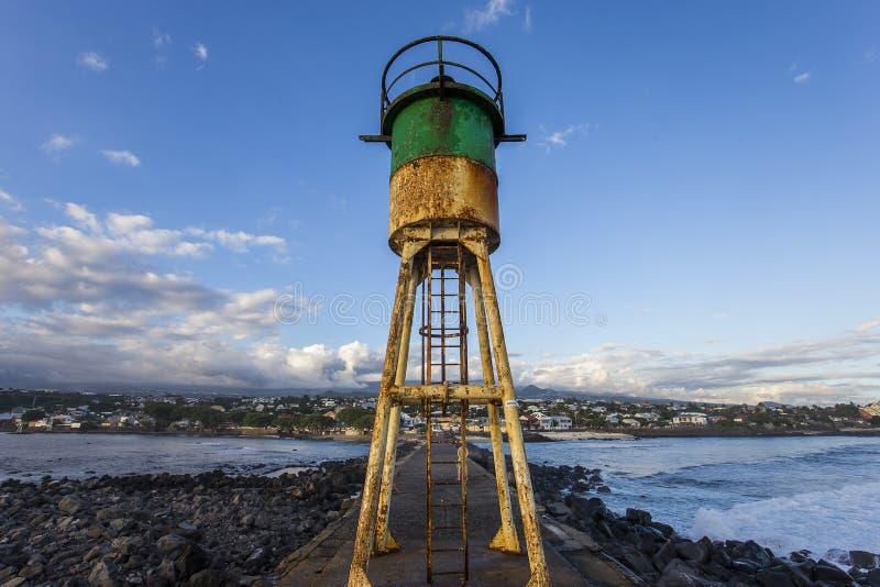 Пляж Ла соляной, Ла Остров Реюньон, Франция стоковая фотография rf
