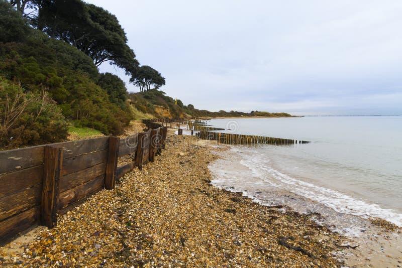 Пляж Лепе – стартовая площадка для шелковицы WWII затаивает. стоковое изображение