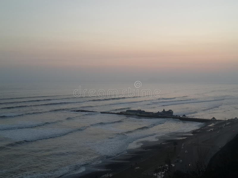 Пляж Лима, Перу стоковые изображения rf