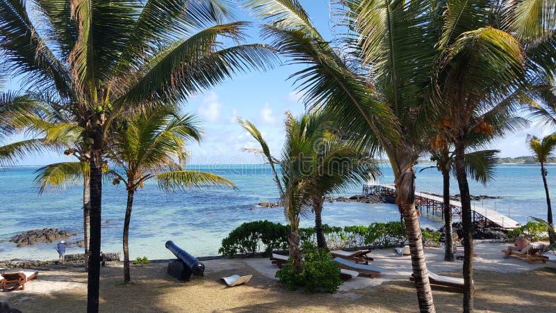 Пляж Маврикия стоковые изображения
