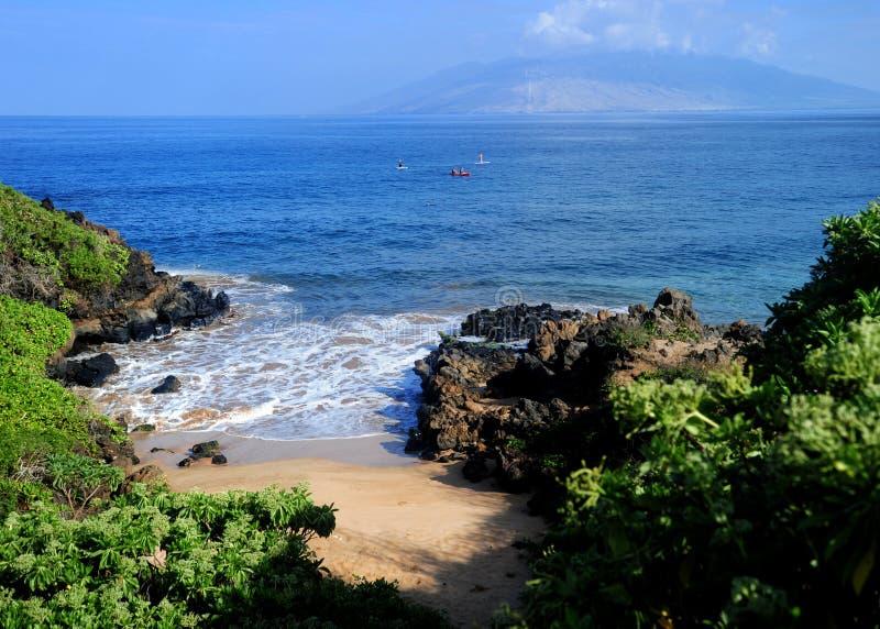 Пляж Мауи, Гаваи стоковые фотографии rf