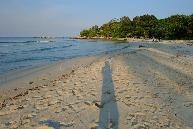 Пляж моря тени стоковая фотография