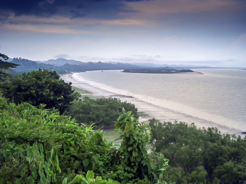 Пляж моря Teknaf стоковое фото rf
