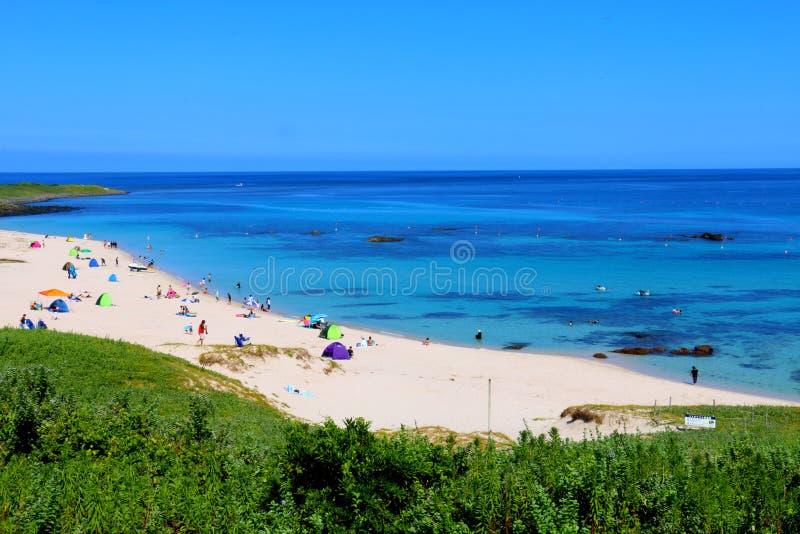 Пляж моря Tsunoshima стоковое фото