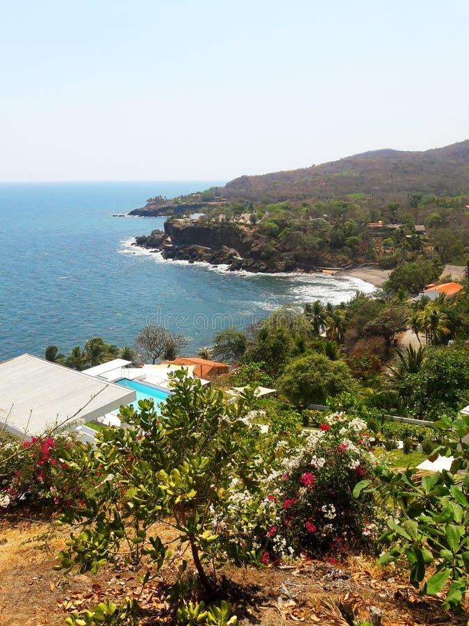 Пляж на дне стоковое изображение rf