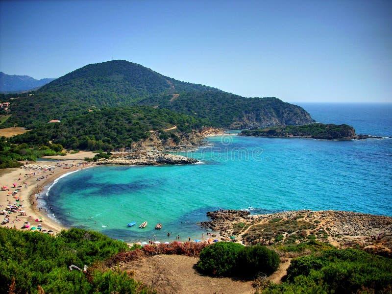 Пляж на Сардинии стоковые изображения