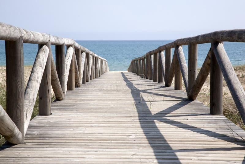 Пляж на El Palmar, Кадис, Андалусия, Испания стоковое фото
