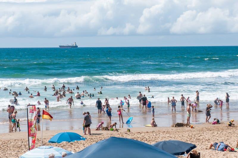 Пляж на Klein Brakrivier около Mosselbay, Южной Африки стоковое фото