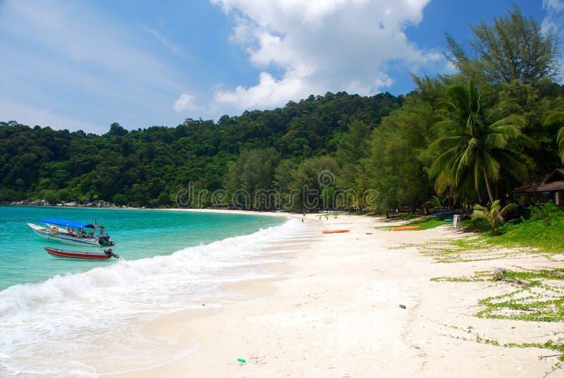 Пляж на pulau perhentian Малайзии стоковое изображение
