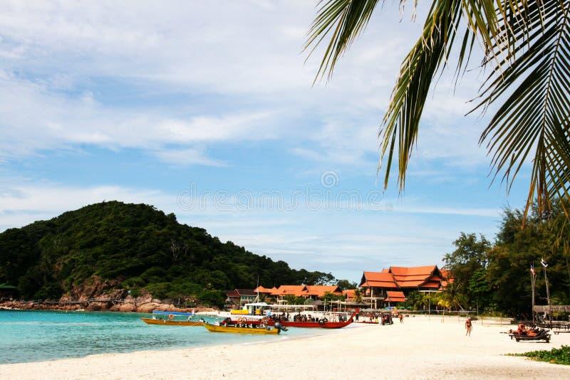 Пляж на Pulau Redang, Малайзии стоковые фото