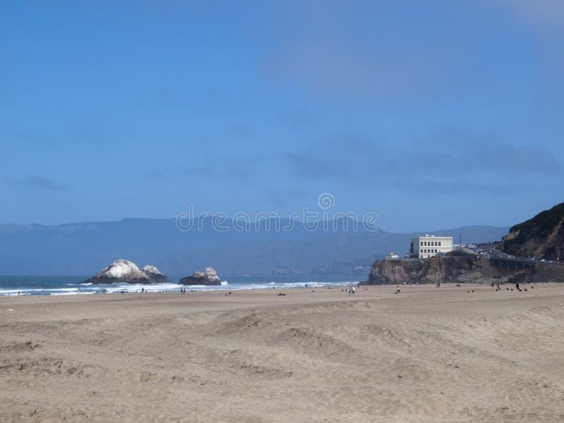 Пляж океана, Сан-Франциско, CA стоковое фото rf