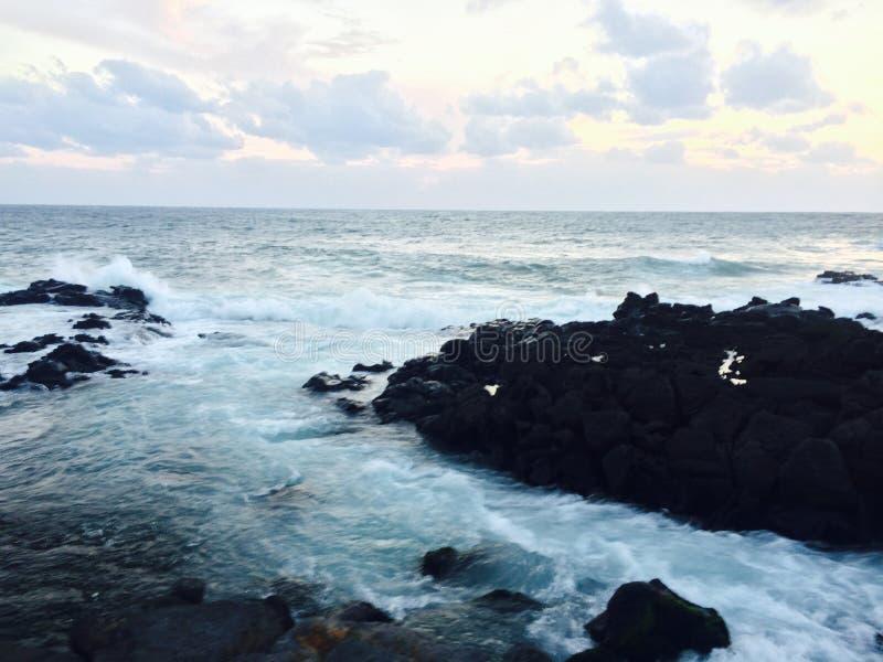 Пляж острова Jeju стоковая фотография rf