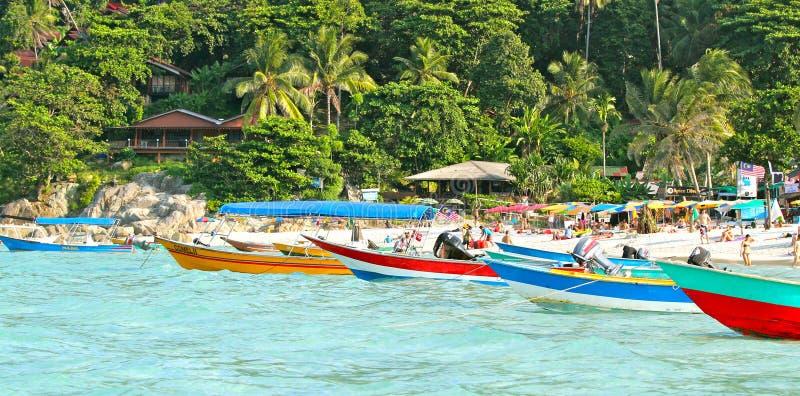 Пляж острова Pulau Perhentian Kecil стоковое фото