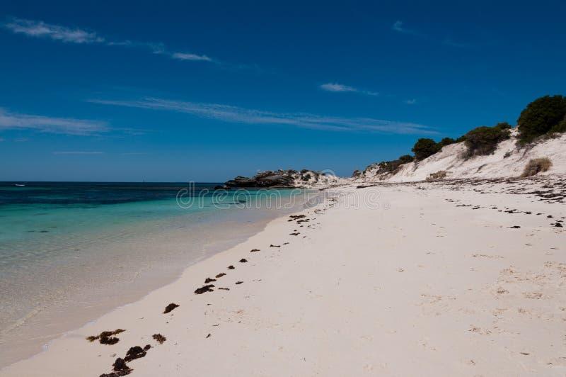 Пляж острова Rottnest стоковые изображения rf
