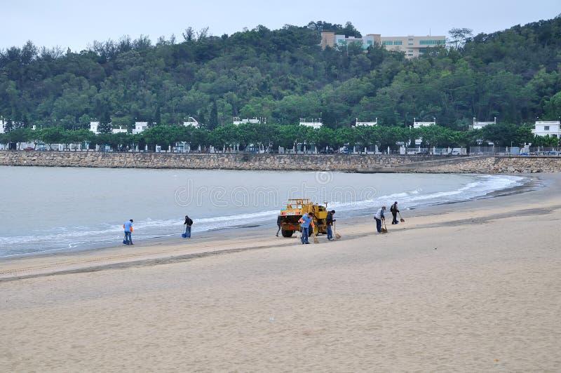 Пляж отработанной формовочной смеси Макао стоковые фотографии rf