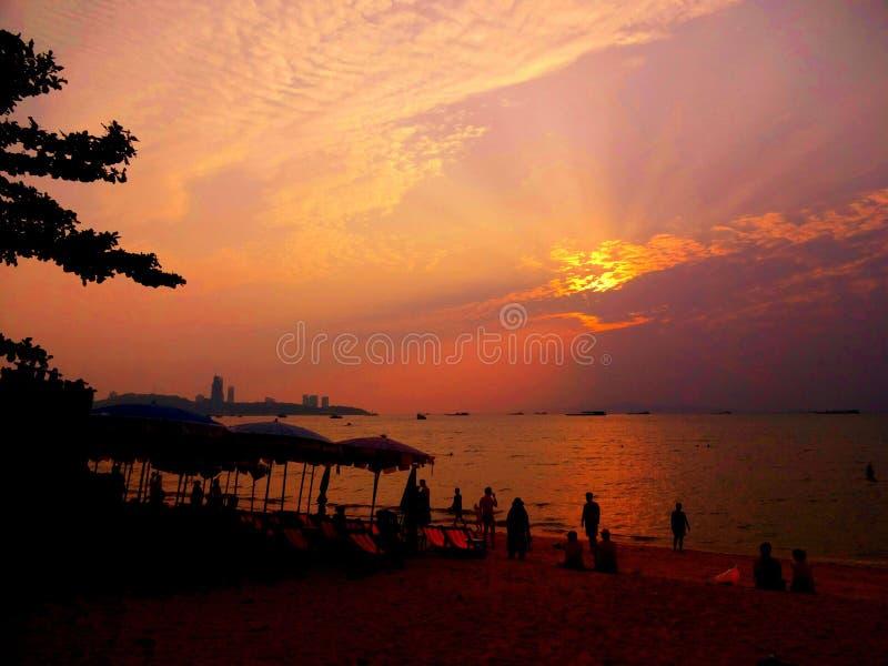 Пляж Паттайя стоковые изображения rf