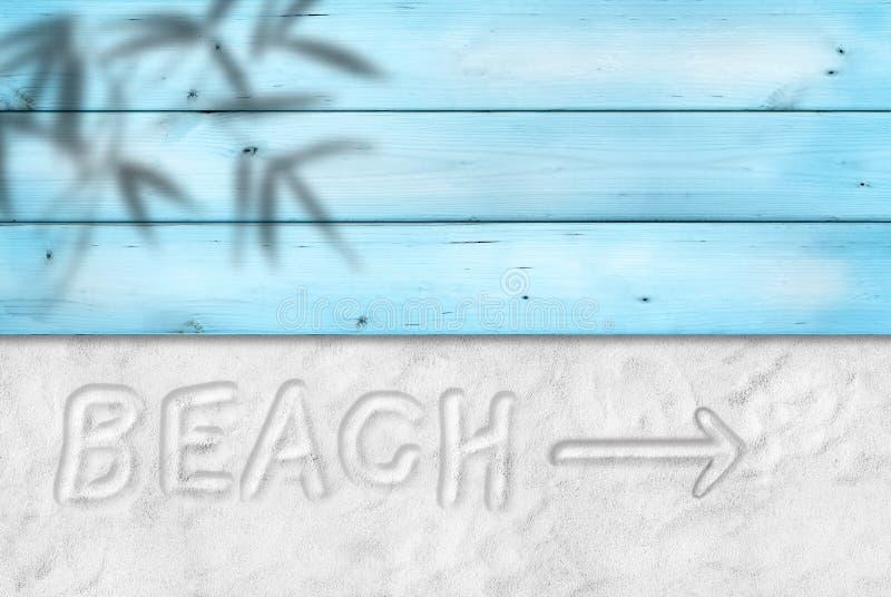 Пляж пишет на песке стоковые фото
