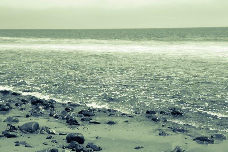 Пляж положения лагуны Malibu - океан стоковое изображение rf