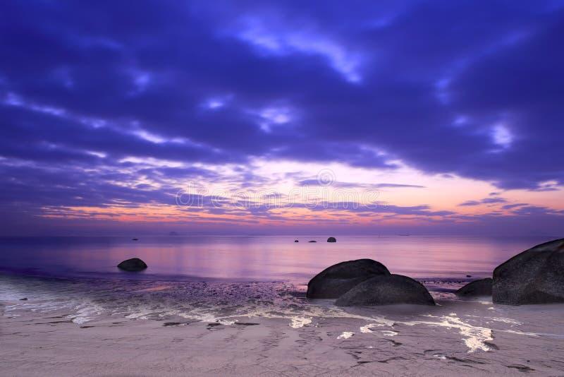 Пляж рассвета стоковые изображения rf