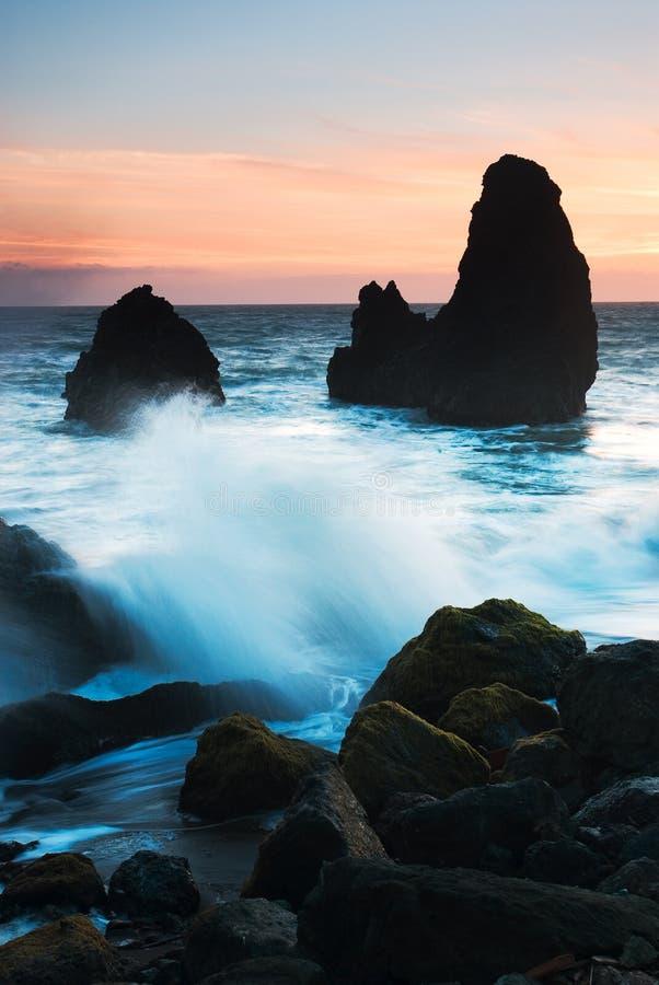 Пляж родео, Сан-Франциско Калифорния стоковые изображения rf