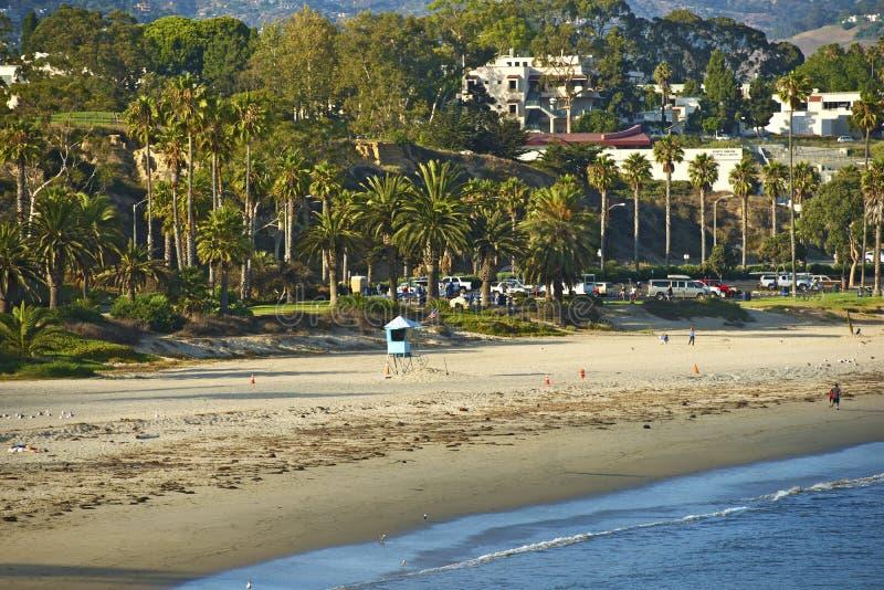 Пляж Санта-Барбара стоковые изображения rf