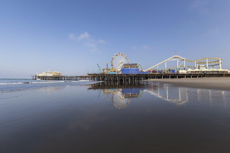 Пляж Санта-Моника в южной Калифорнии стоковое изображение rf