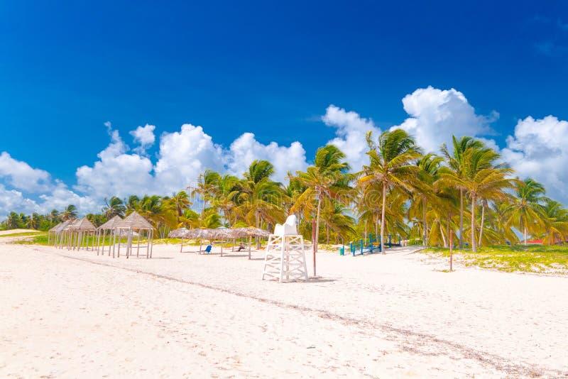 Пляж Санты Lucia, провинция Camaguey, Куба стоковое изображение rf