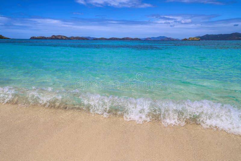 Пляж сапфира - St. Thomas стоковые фото