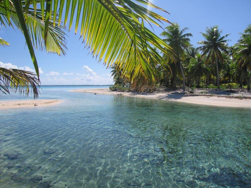 Пляж с белым песком в рае стоковое фото