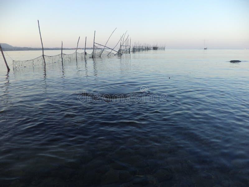 Пляж с открытым морем стоковые изображения