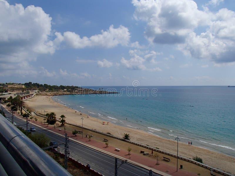 Пляж Таррагоны стоковые фотографии rf
