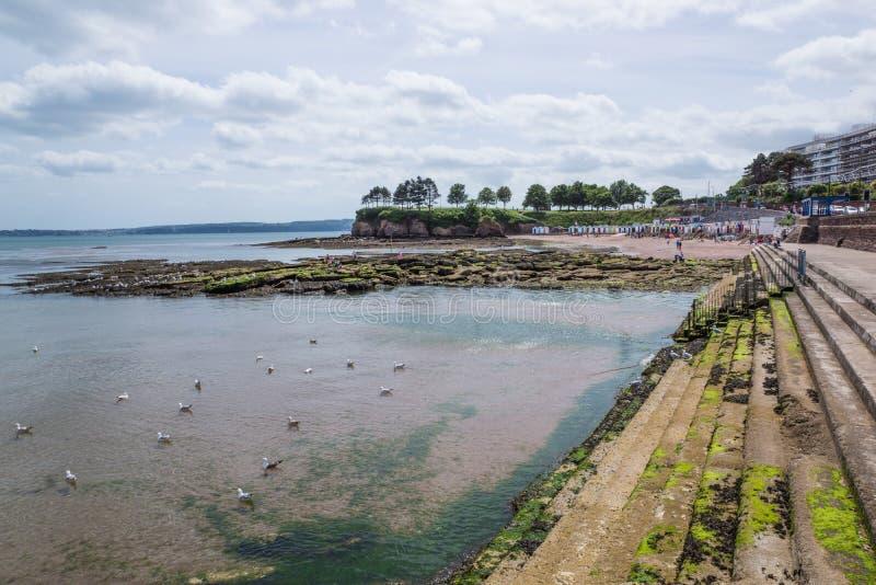 Пляж Торки, Великобритания стоковые фото
