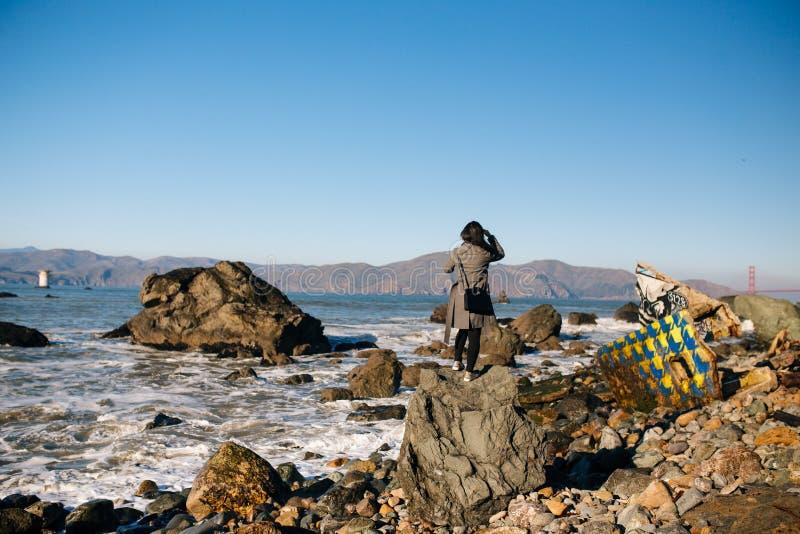 Пляж утеса мили стоковые изображения