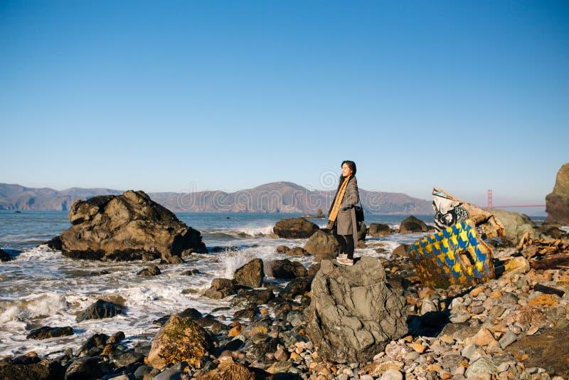 Пляж утеса мили стоковое фото rf