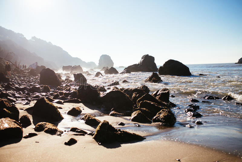 Пляж утеса мили стоковое изображение
